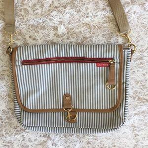 Skip HOP French stripe crossbody diaper bag